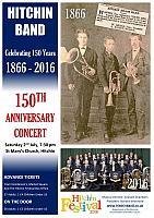 Hitchin Band Festival Concert Poster