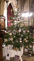 Hitchin Band's entry in Hitchin Christmas Tree Festival December 2016